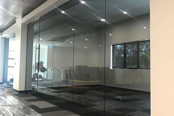 Frameless Glass Partitioning Brisbane