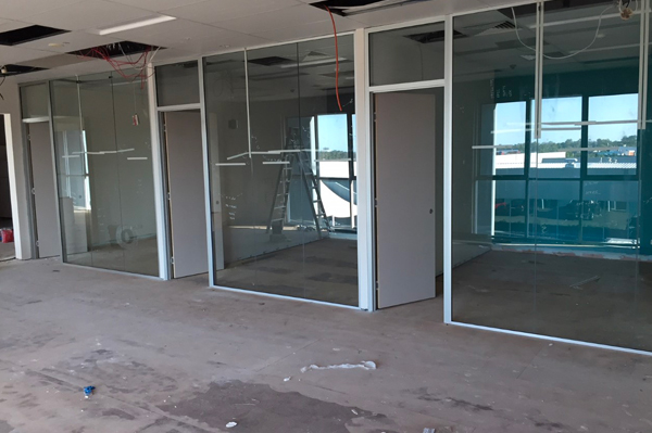 Framed Glass Walls